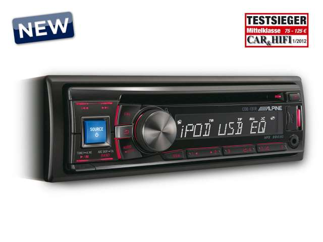 Alpine CDE-131R CD/USB autorádio