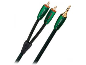 Audioquest Evergreen propojovací kabel Jack 3,5mm - 2 x RCA 1,5m