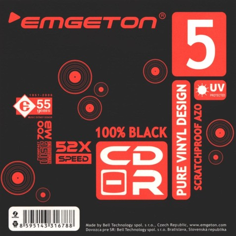 Emgeton CD-R Pure Vinyl Black 5Pack