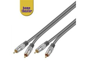 Home Theater kabel 2x CINCH - 2x CINCH 5m