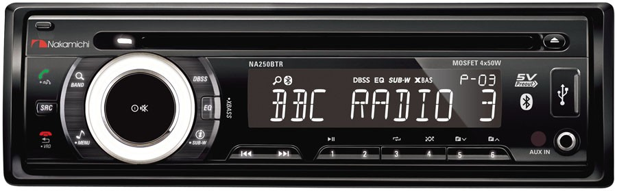 Nakamichi NA250BTR 1-DIN autorádio s Bluetooth/CD/USB/SD
