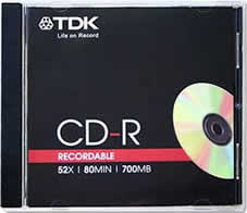 TDK CD-R80JCA CD-R 700MB