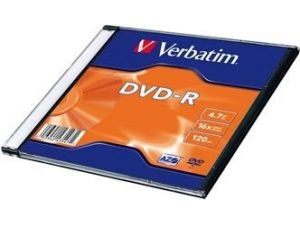 Verbatim DVD-R 4,7GB 16x slim